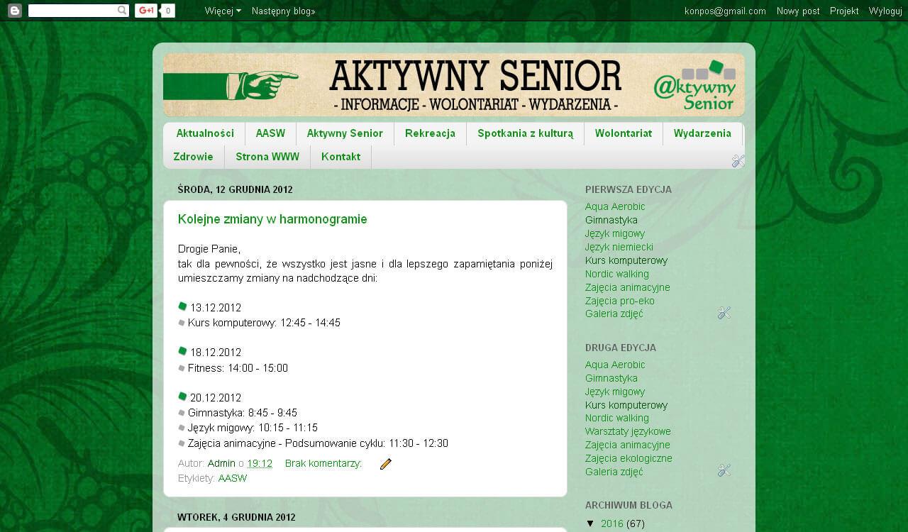 Blog Aktywny Senior