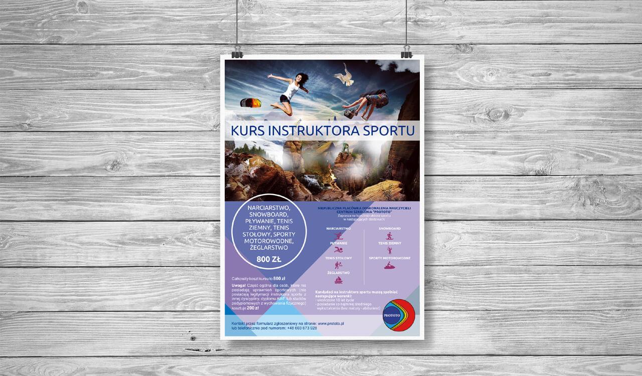 Plakat - Kurs instruktora sportu