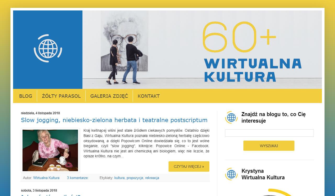 Blog Wirtualna Kultura 60+