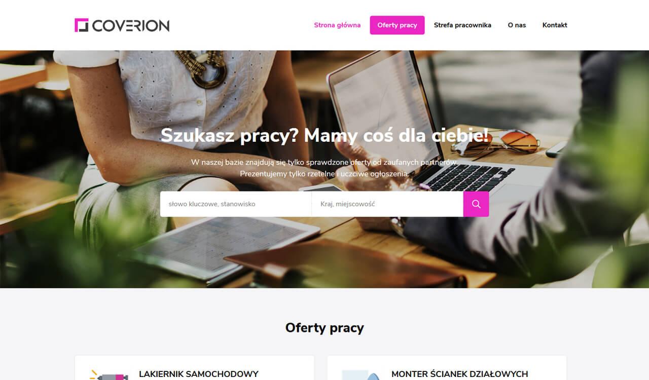 Strona Coverion.eu