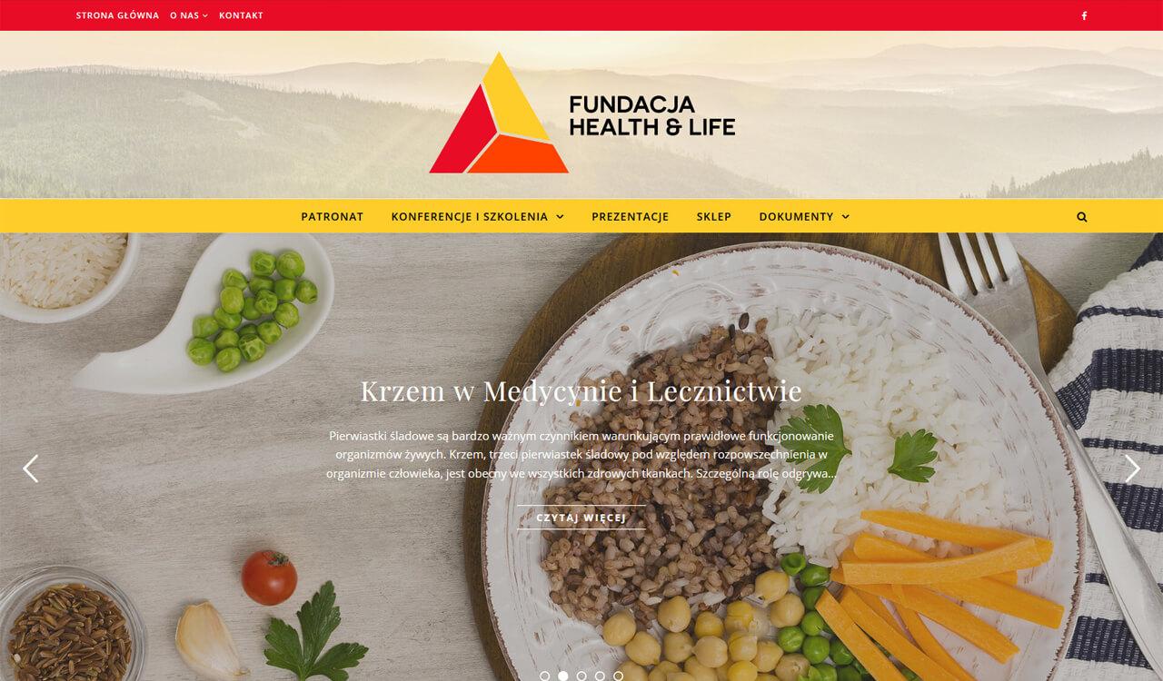 Sklep i strona Fundacji Health & Life