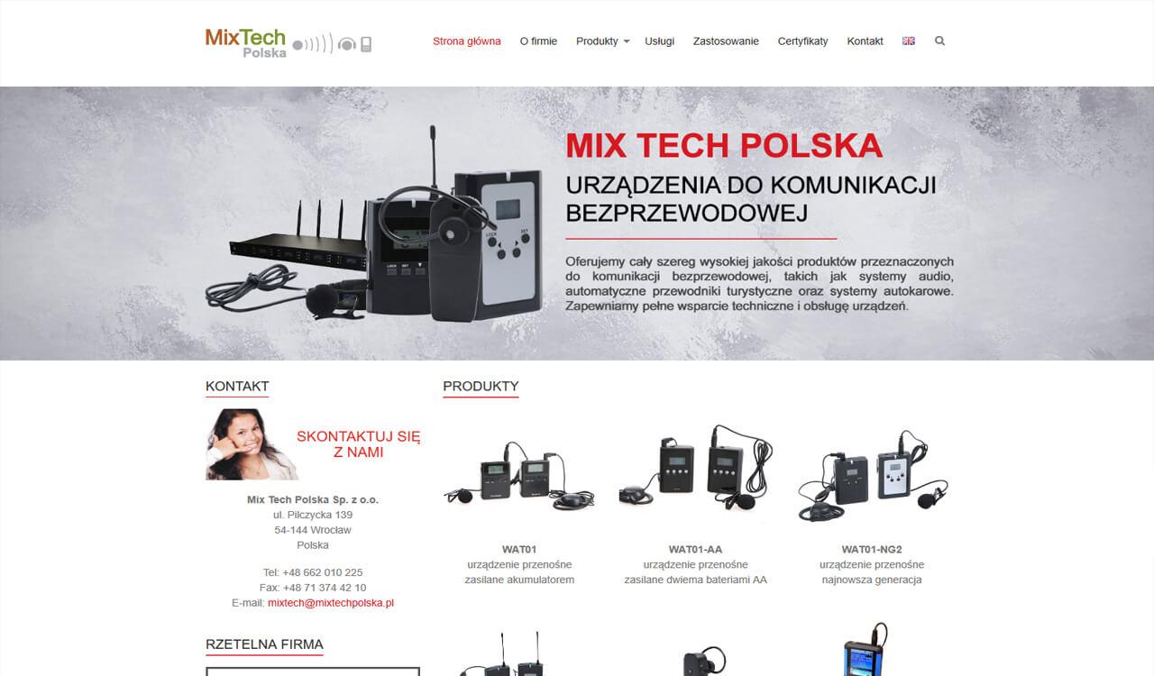 Strona Mix Tech Polska
